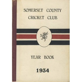 SOMERSET COUNTY CRICKET CLUB YEARBOOK 1934