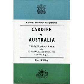 CARDIFF V AUSTRALIA 1966 RUGBY PROGRAMME