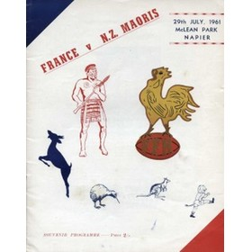 NZ MAORIS V FRANCE 1961 RUGBY PROGRAMME