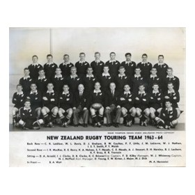 NEW ZEALAND 1963-64 RUGBY PHOTOGRAPH