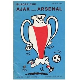 AJAX AMSTERDAM V ARSENAL 1972 (EUROPEAN CUP 3RD ROUND) FOOTBALL PROGRAMME