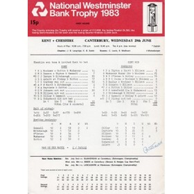 KENT V CHESHIRE 1983 (SIGNED BY TAVARE)