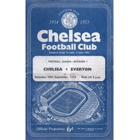 CHELSEA V EVERTON 1954 FOOTBALL PROGRAMME