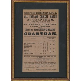ALL ENGLAND ELEVEN 1870 (RAILWAY HANDBILL)