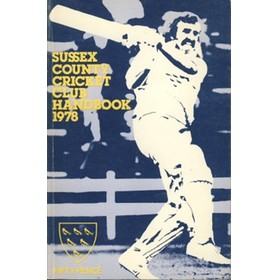 SUSSEX COUNTY CRICKET CLUB HANDBOOK 1978