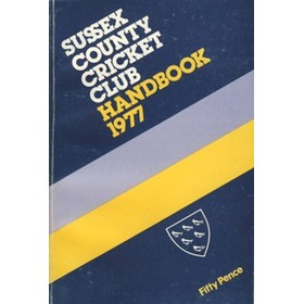 SUSSEX COUNTY CRICKET CLUB HANDBOOK 1977
