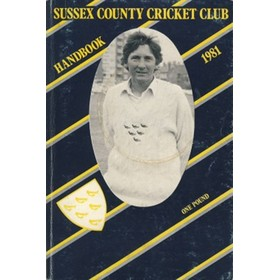 SUSSEX COUNTY CRICKET CLUB HANDBOOK 1981