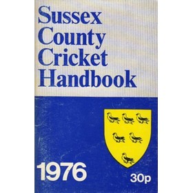 OFFICIAL SUSSEX CRICKET HANDBOOK 1976