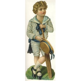 "BOY CRICKETER (VICTORIAN ""CUT OUT"")"