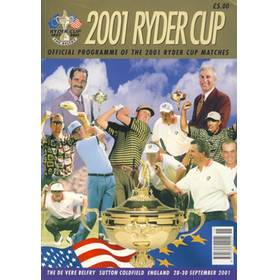 RYDER CUP 2001 (THE BELFRY) OFFICIAL PROGRAMME - ABANDONED