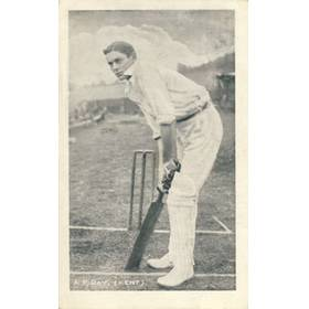 ARTHUR PERCIVAL DAY (KENT) C1905 CRICKET POSTCARD