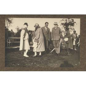GENE TUNNEY & GEORGE BERNARD SHAW (AT POLO MATCH) PHOTOGRAPH