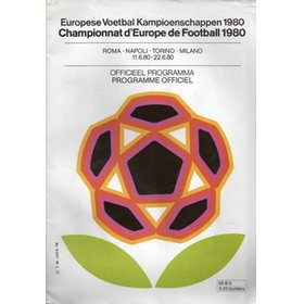 EUROPEAN CHAMPIONSHIPS 1980 (TOURNAMENT PROGRAMME)
