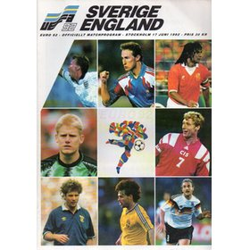 ENGLAND V SWEDEN 1992 FOOTBALL PROGRAMME