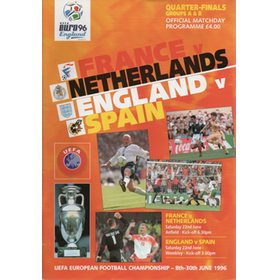 FRANCE V THE NETHERLANDS & ENGLAND V SPAIN 1996 (EURO 96 QUARTER FINALS)