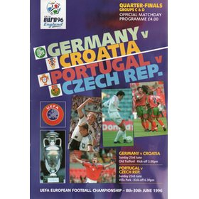 GERMANY V CROATIA & PORTUGAL V CZECH REPUBLIC 1996 (EURO 96 QUARTER FINALS)