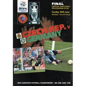 CZECH REPUBLIC V GERMANY 1996 (EURO 96 FINAL)  FOOTBALL PROGRAMME