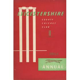 LEICESTERSHIRE COUNTY CRICKET CLUB 1954 ANNUAL