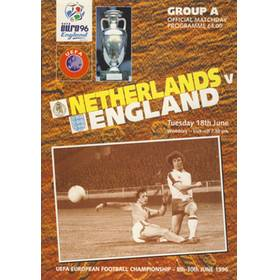 NETHERLANDS V ENGLAND 1996 (EURO 96 GROUP A) FOOTBALL PROGRAMME