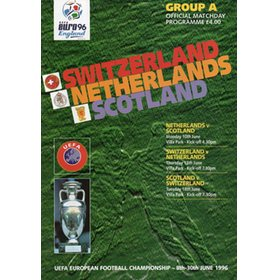 NETHERLANDS V SCOTLAND, SWITZERLAND V NETHERLANDS AND SCOTLAND V SWITZERLAND (EURO 96 GROUP A)