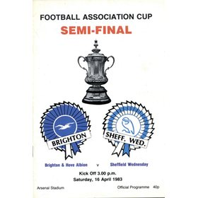 BRIGHTON & HOVE ALBION V SHEFFIELD WEDNESDAY 1983 (FA CUP SEMI-FINAL)