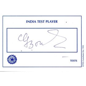 C.G.  BORDE CRICKET AUTOGRAPH
