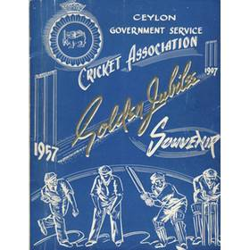 CEYLON GOVERNMENT SERVICE CRICKET ASSOCIATION GOLDEN JUBILEE SOUVENIR 1957