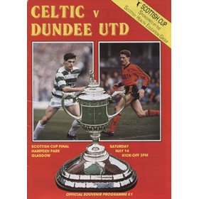 CELTIC V DUNDEE UTD 1988 (SCOTTISH CUP FINAL) FOOTBALL PROGRAMME