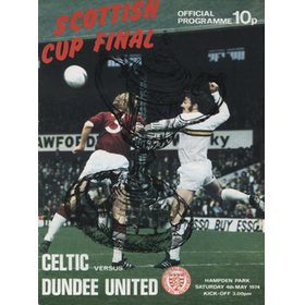 CELTIC V DUNDEE UNITED 1974 (SCOTTISH CUP FINAL) FOOTBALL PROGRAMME