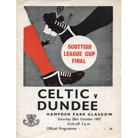 CELTIC V DUNDEE 1967 (SCOTTISH LEAGUE CUP FINAL) FOOTBALL PROGRAMME