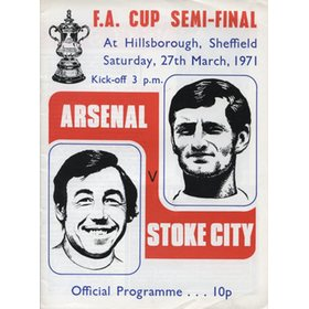 ARSENAL V STOKE CITY 1971 (F.A. CUP SEMI-FINAL) FOOTBALL PROGRAMME