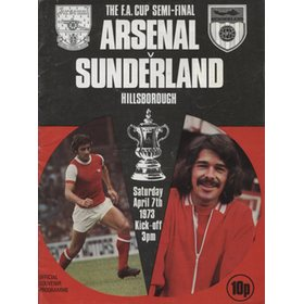 ARSENAL V SUNDERLAND 1973 (F.A. CUP SEMI-FINAL) FOOTBALL PROGRAMME