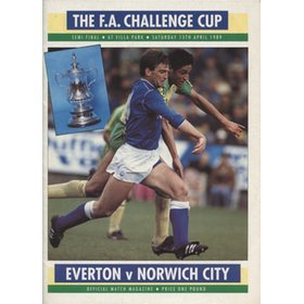 EVERTON V NORWICH CITY 1989 (F.A. CUP SEMI-FINAL) FOOTBALL PROGRAMME