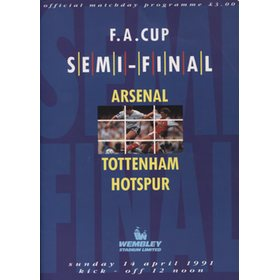 ARSENAL V TOTTENHAM HOTSPUR 1991 (FA CUP SEMI-FINAL) FOOTBALL PROGRAMME