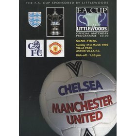 CHELSEA V MANCHESTER UNITED 1996 (F.A. CUP SEMI-FINAL) FOOTBALL PROGRAMME
