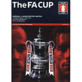ARSENAL V MANCHESTER UNITED 2004 (F.A. CUP SEMI-FINAL) FOOTBALL PROGRAMME