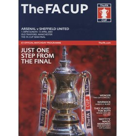 ARSENAL V SHEFFIELD UNITED 2003 (F.A. CUP SEMI-FINAL) FOOTBALL PROGRAMME