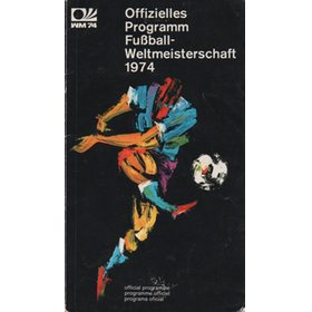 WORLD CUP 1974 OFFICIAL TOURNAMENT PROGRAMME