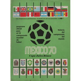 WORLD CUP 1970 FOOTBALL PROGRAMME