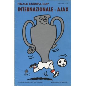 INTER MILAN V AJAX 1972 (EUROPEAN CUP FINAL) FOOTBALL PROGRAMME