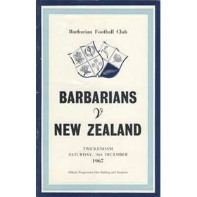 BARBARIANS V NEW ZEALAND 1967