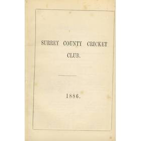 SURREY COUNTY CRICKET CLUB 1886