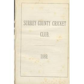 SURREY COUNTY CRICKET CLUB 1889