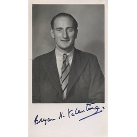 BRYAN VALENTINE (KENT & ENGLAND) SIGNED CRICKET PHOTOGRAPH
