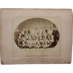 CARDIFF R.F.C. 1885-86 RUGBY PHOTOGRAPH