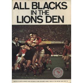 THE ALL BLACKS IN THE LIONS DEN