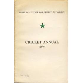 BOARD OF CONTROL FOR CRICKET IN PAKISTAN: CRICKET ANNUAL 1971
