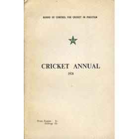 BOARD OF CONTROL FOR CRICKET IN PAKISTAN: CRICKET ANNUAL 1970