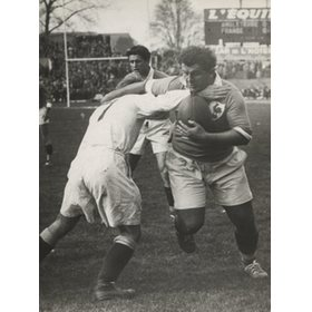 FRANCE V ENGLAND 1929-31 RUGBY PHOTOGRAPH