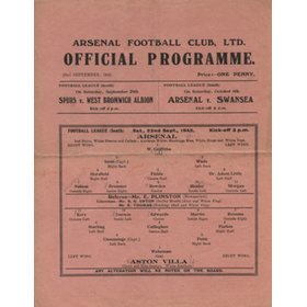 ARSENAL V ASTON VILLA 1945-46
